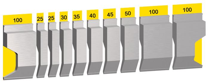 Oberwerkzeug-L=550mm-sekt